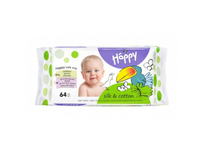 Salviette happy seta e cotone 64pz